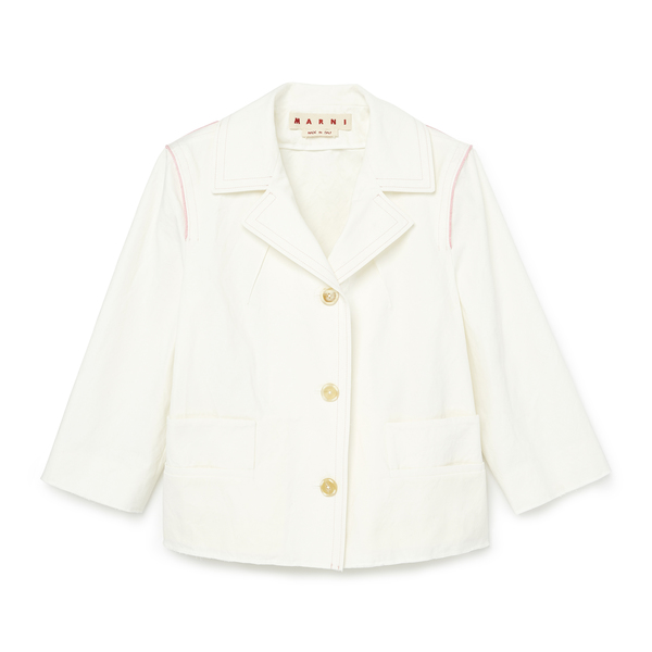 Marni White Cotton Blazer