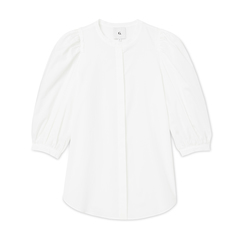 Tracy Puff-Sleeve Button-Down