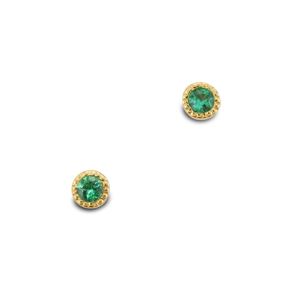 Ark Fine Jewelry Lakshmi Stud Emerald Earrings