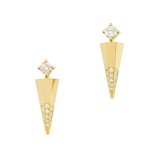 Ark Fine Jewelry Blooming Lotus Diamond Mini Dagger Earrings