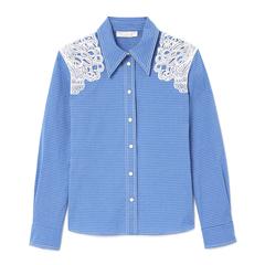 Lace-Shoulder Western Shirt