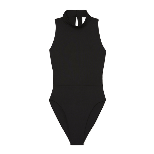 G. Label Mock-Neck Maillot