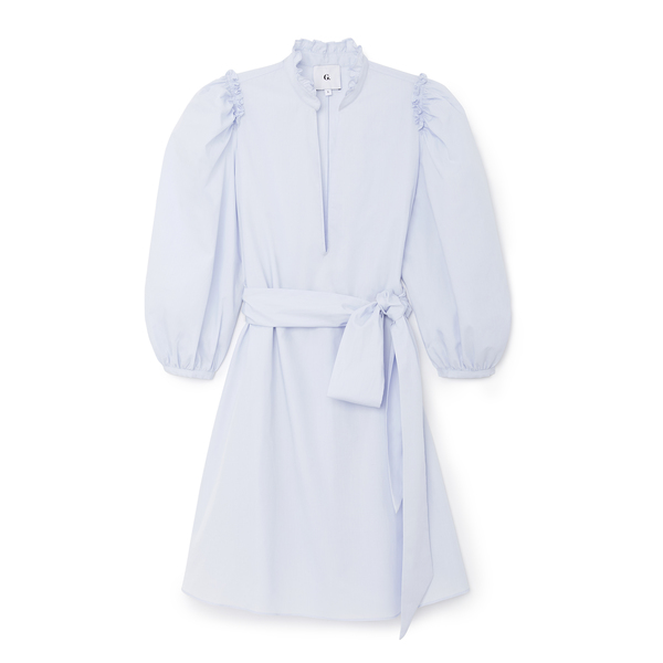 G. Label Short Puff-Sleeve Cover-Up Dress