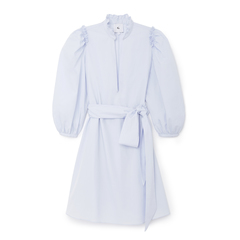 Short Puff-Sleeve Cover-Up Dress