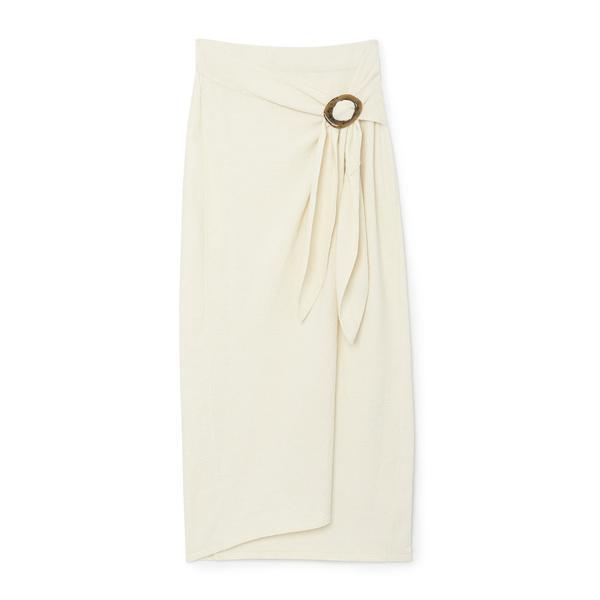 Nanushka Sasha Belted Wrap Skirt
