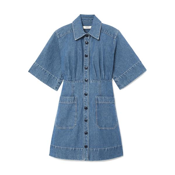 Sea Piper Denim Shirt Dress