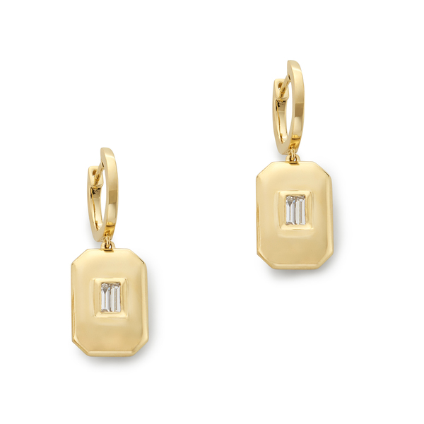 SHAY JEWELRY Essential Baguette Drop Earrings