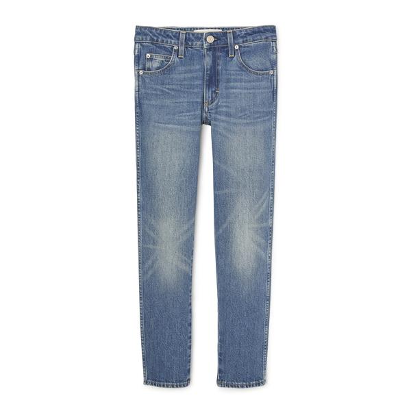 AMO Kate Mid Rise Slim Straight Jeans