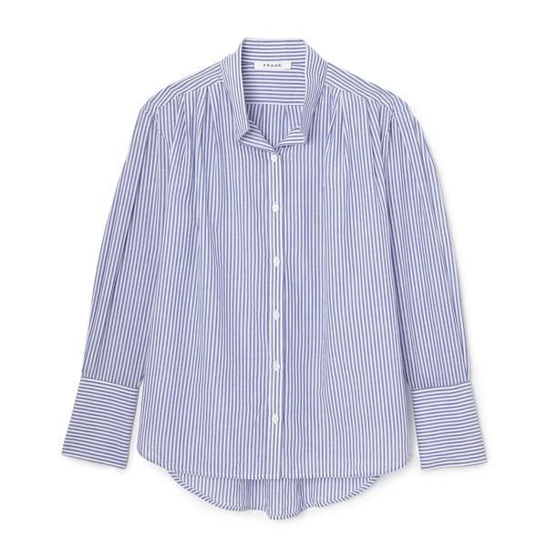 Frame Pleated Clean Collar Shirt