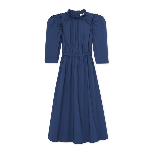 Sea Luna Corded Puff-Sleeve Dress