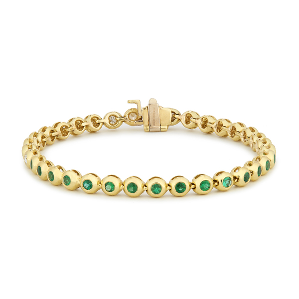 Jemma Wynne Emerald And Diamond Tennis Bracelet