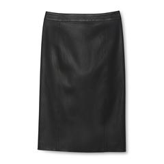 Elle Stretch Leather Skirt