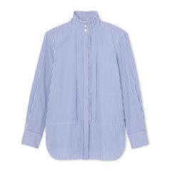 Bessie Pleat-Collar Button-Down Shirt