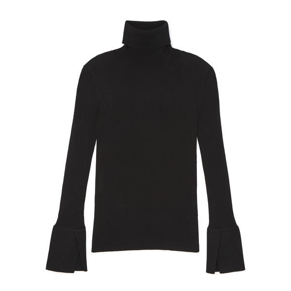 Proenza Schouler Roll-Neck Silk-Blend Sweater with Split-Cuff