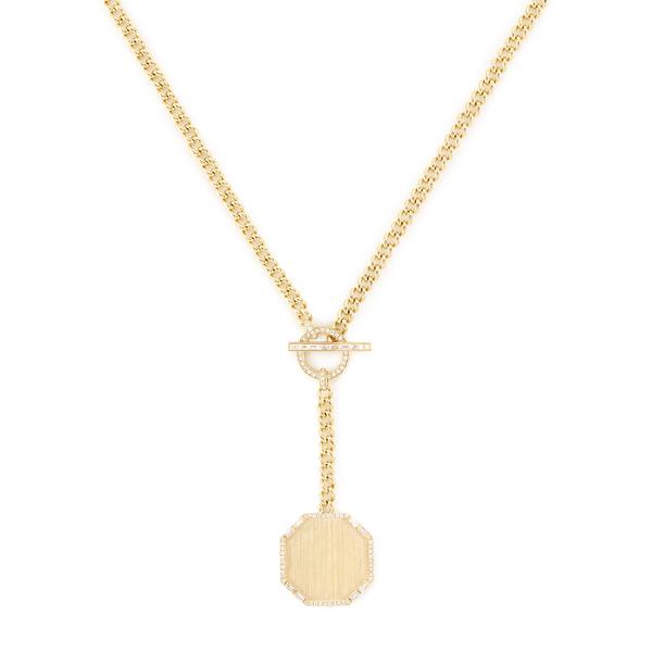 Shay Jewelry Octagon Y Link Lariat