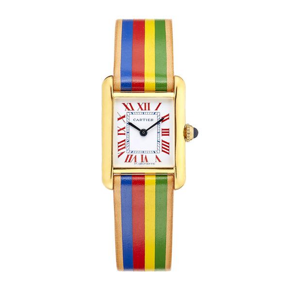 La Californienne Small Rainbow Cartier Tank Watch