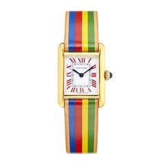 Small Rainbow Cartier Tank Watch