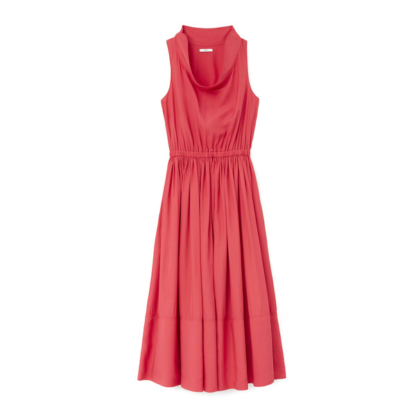 Co Sleeveless Cowl-Neck Dress