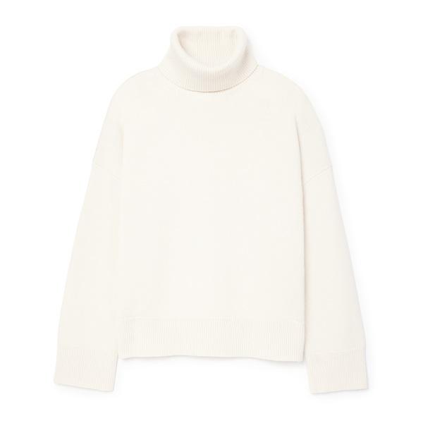 Co Drop Shoulder Turtleneck Sweater