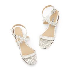Siena Croc-Embossed Sandals