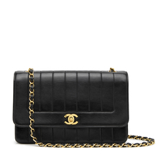 Chanel Black Lambskin Flap Bag, 10""