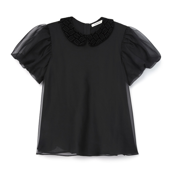 Hiraeth Cosette Tulip-Sleeve Organza Top