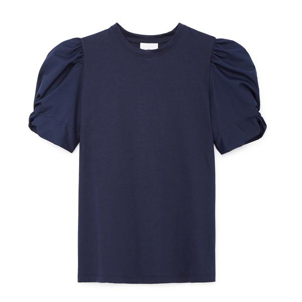 G. Label Christopher Puff-Sleeve Poplin T-Shirt