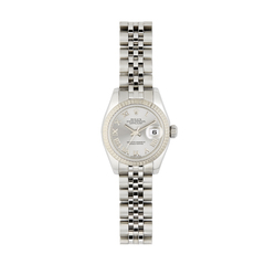 Rolex Stainless-Steel with 18K White-Gold Women's Date Watch