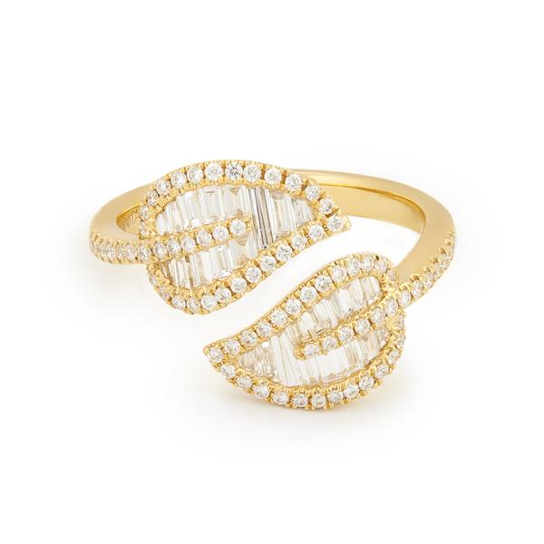 Anita Ko 18-Karat Yellow-Gold Leaf Ring