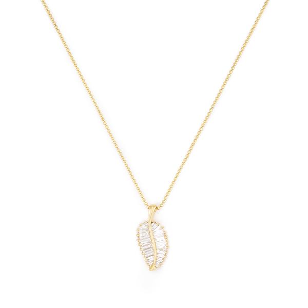 Anita Ko 18-Karat Yellow-Gold Palm Leaf Necklace