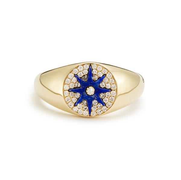 Colette Jewelry Star Signet Lapiz Ring