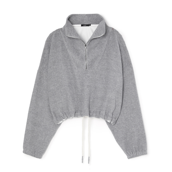 Bassike Reverse Fleece Oversized Polo