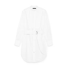 Cotton Bib Front Shirt Dress