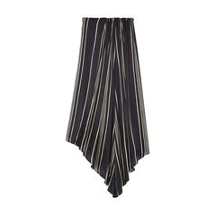 Striped Charmeuse Skirt
