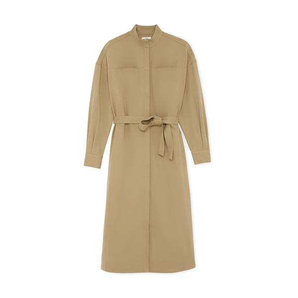 Co Cotton Wool Tailoring Shirtdress