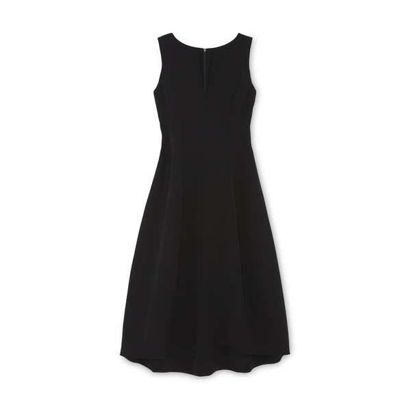 Co Tulip Textured Wool Dress