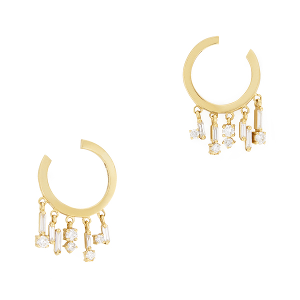 Suzanne Kalan Curved Mini Hoop Earrings