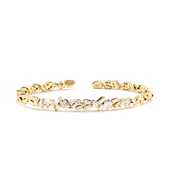 Diamond Zigzag Firework Bangle