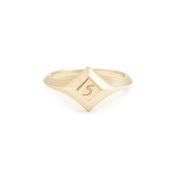 Sophie Ratner Lucky Number Signet Ring