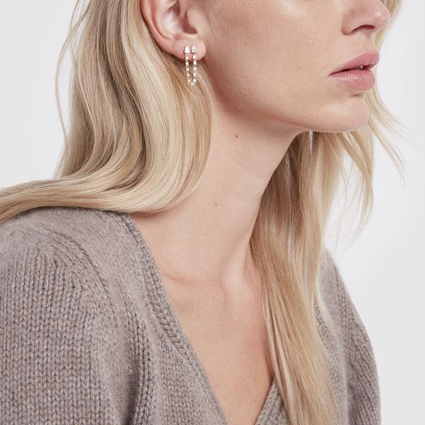ANITA KO Double Pear Loop Earring