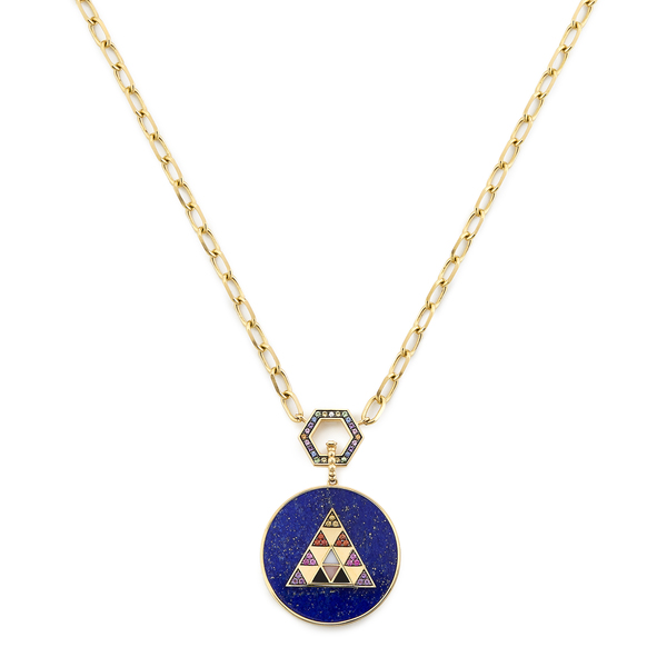Harwell Godfrey Foundation Necklace with Stone Inlay Medallion