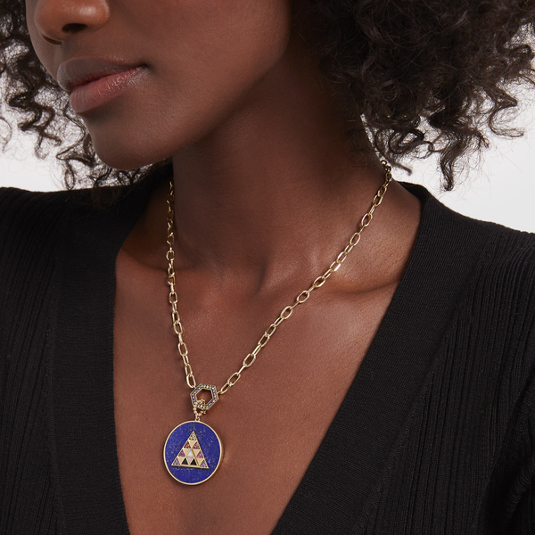 HARWELL GODFREY Foundation Necklace with Stone Inlay Medallion