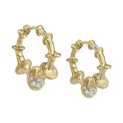 Mini Chrona Hoops with Diamonds