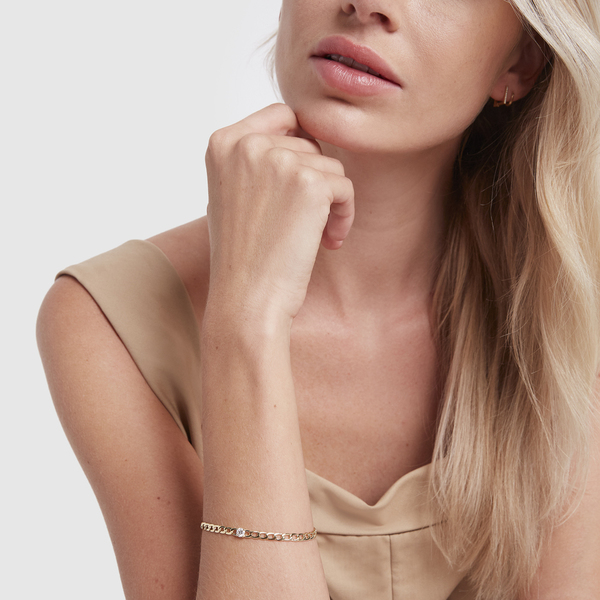 ANITA KO Plain Chain-Link Bracelet