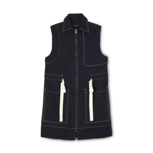 Lee Mathews Bonnie Drill Sleeveless Vest