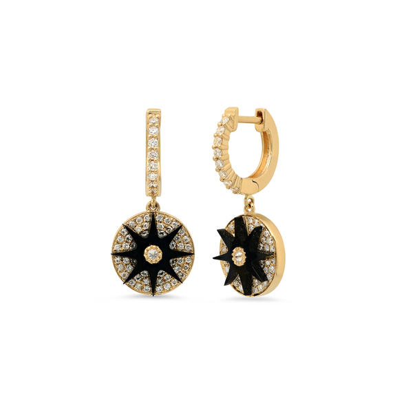 Colette Jewelry Galaxia Enamel Star Huggie Earrings