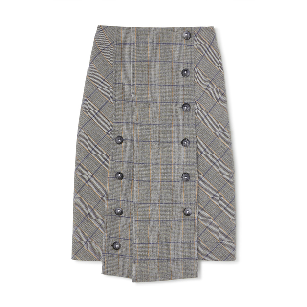 Chloé Windowpane Skirt