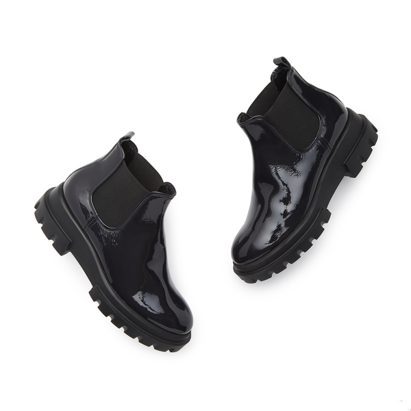 AGL Navy Patent Leather Boots