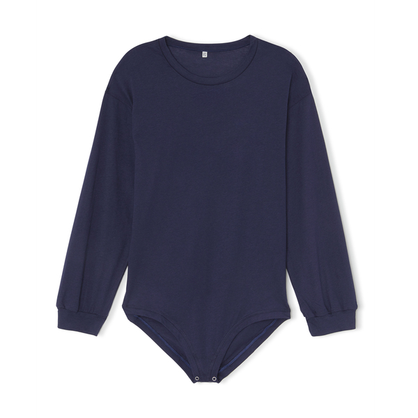 BASERANGE Michael Tee Cotton-Silk Bodysuit