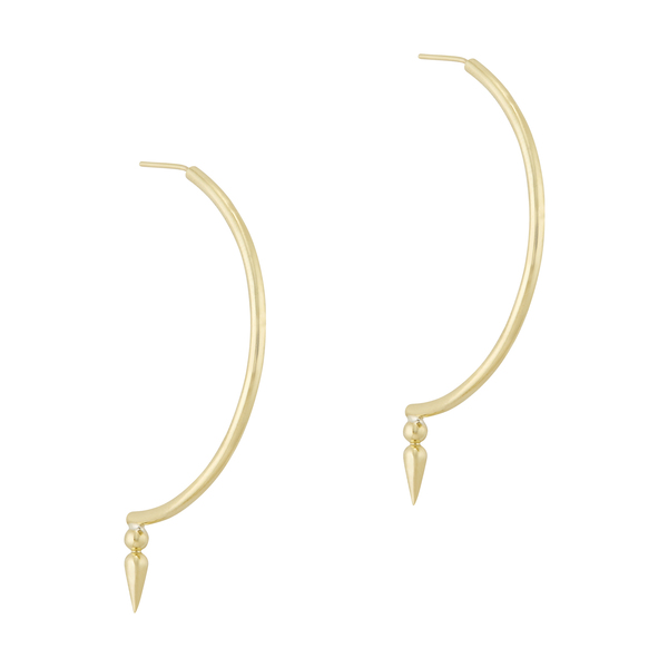 Sarah Hendler Signature Spear Half Hoops